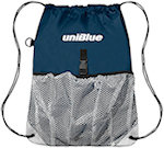 Polyester Drawstring Bags With Outside Mesh Pocket